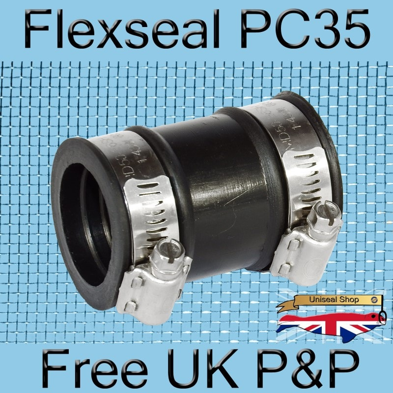 Magnify Flexseal PC35 Plumbing Connector photo Flexseal_Plumbing_Coupling_PC35_03_800.jpg