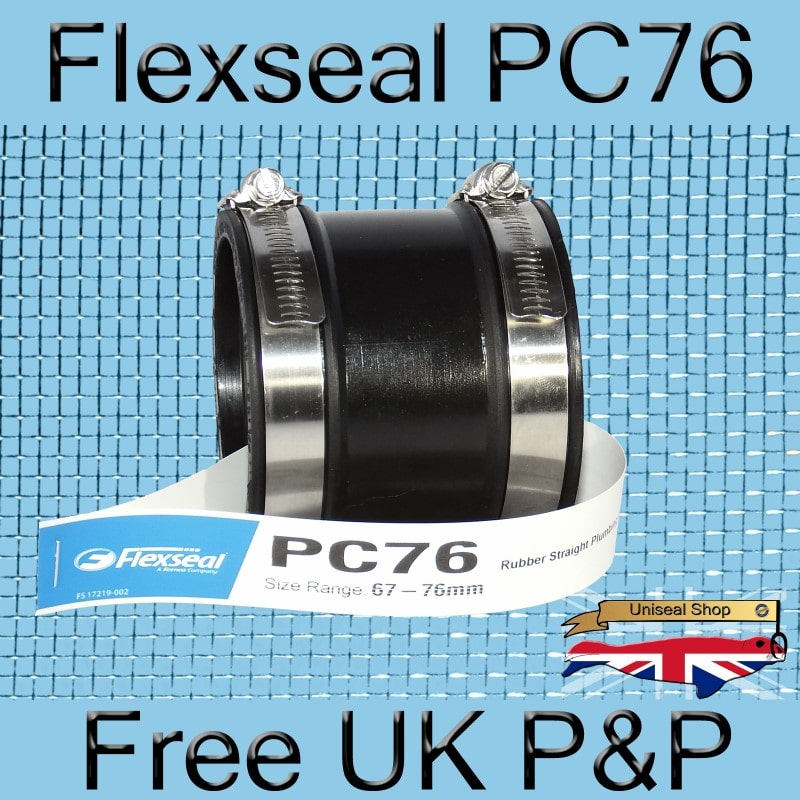 Magnify Flexseal PC76 Plumbing Connector photo Flexseal_Plumbing_Coupling_PC76_01_800.jpg