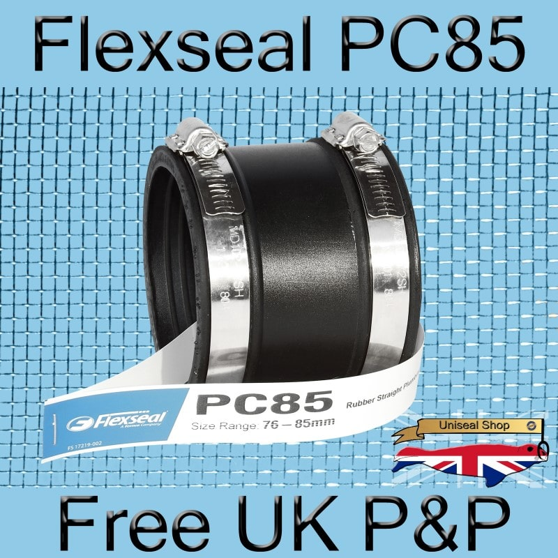 Magnify Flexseal PC85 Plumbing Connector photo Flexseal_Plumbing_Coupling_PC85_01_800.jpg