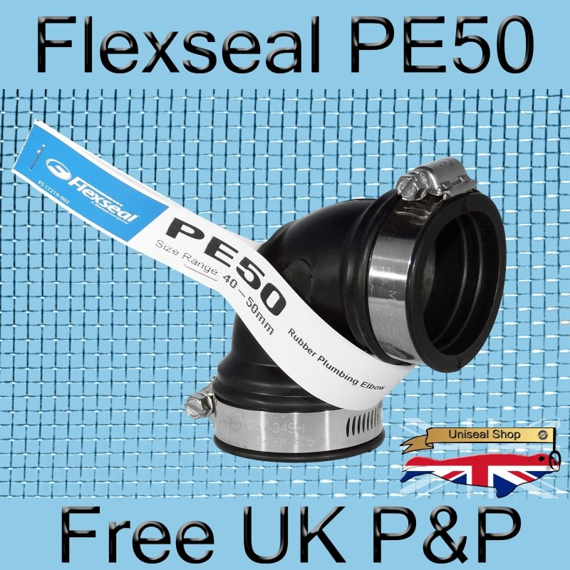 Magnify Flexseal PE50 Elbow Connector photo Flexseal_Plumbing_Elbow_PE50_01_800.jpg