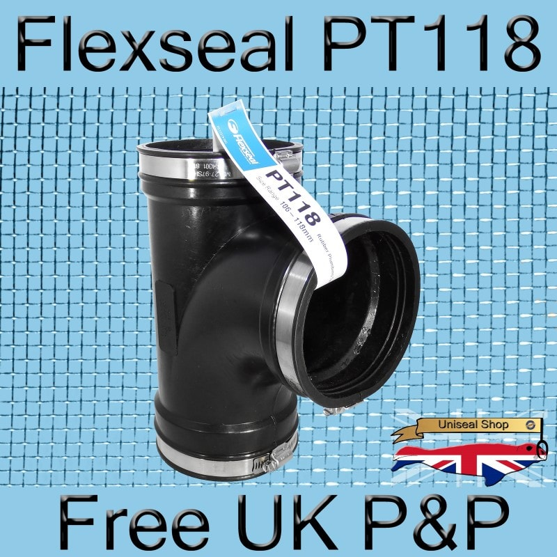 Magnify Flexseal PT118 Tee Connector photo Flexseal_Plumbing_Tee_PT118_01_800.jpg