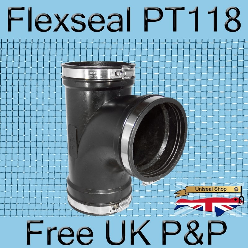 Magnify Flexseal PT118 Tee Connector photo Flexseal_Plumbing_Tee_PT118_02_800.jpg