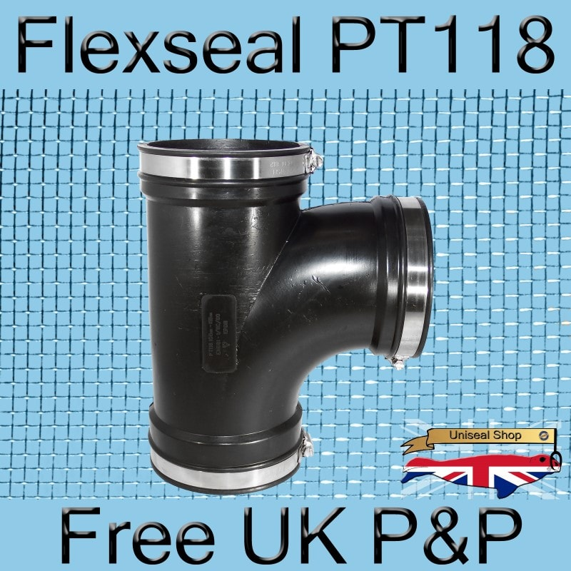 Magnify Flexseal PT118 Tee Connector photo Flexseal_Plumbing_Tee_PT118_03_800.jpg