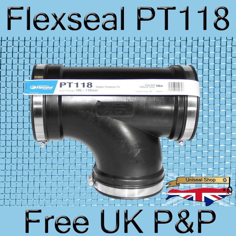 Magnify Flexseal PT118 Tee Connector photo Flexseal_Plumbing_Tee_PT118_04_800.jpg