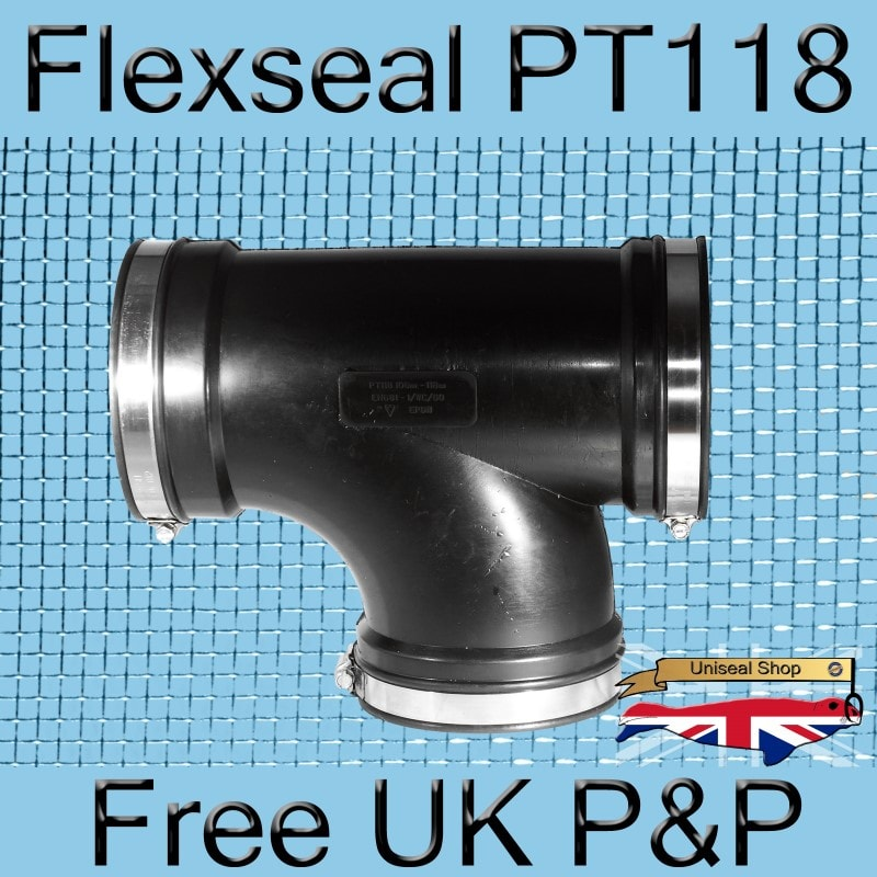 Magnify Flexseal PT118 Tee Connector photo Flexseal_Plumbing_Tee_PT118_05_800.jpg